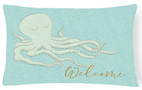 Buy this Octopus Welcome Canvas Fabric Decorative Pillow BB8553PW1216