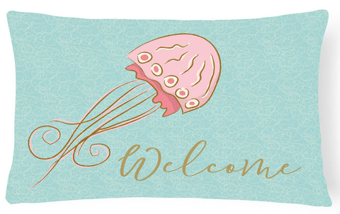 Buy this Jelly Fish Welcome Canvas Fabric Decorative Pillow BB8555PW1216
