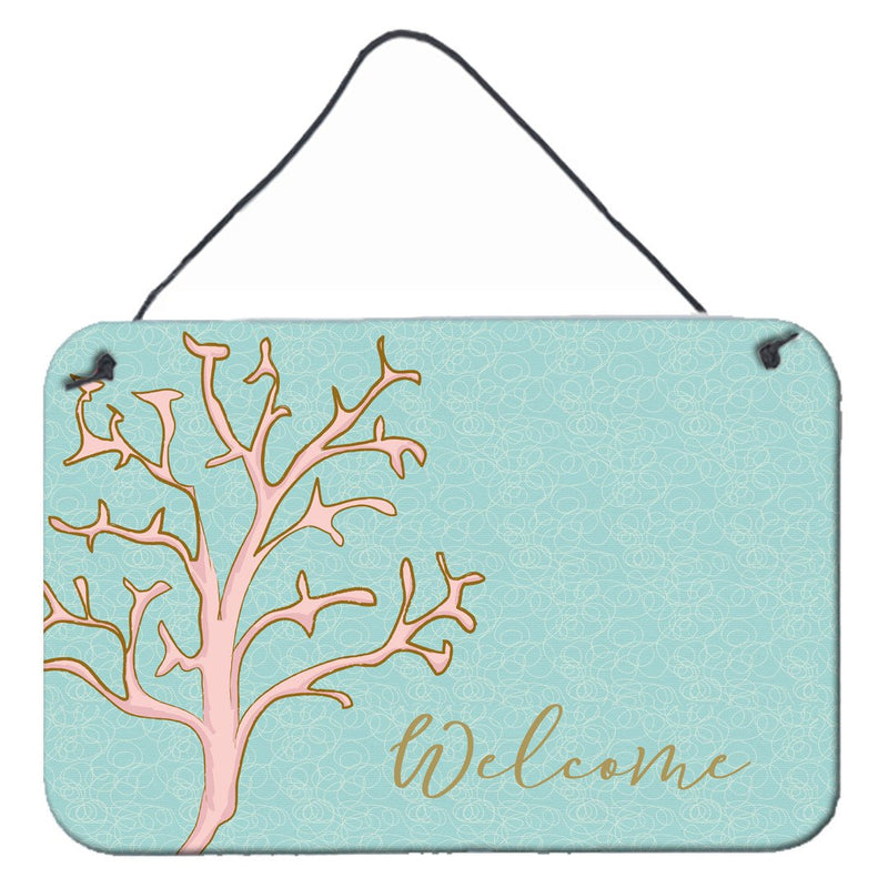 Buy this Coral Welcome Wall or Door Hanging Prints BB8556DS812