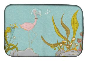 Buy this Flamingo Underwater #2 Dish Drying Mat BB8557DDM