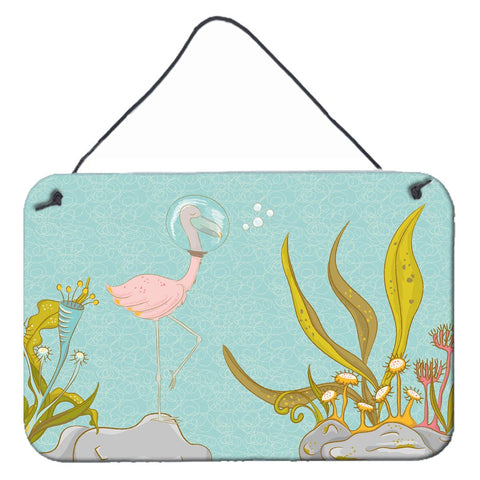 Buy this Flamingo Underwater #2 Wall or Door Hanging Prints BB8557DS812
