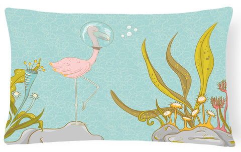 Buy this Flamingo Underwater #2 Canvas Fabric Decorative Pillow BB8557PW1216
