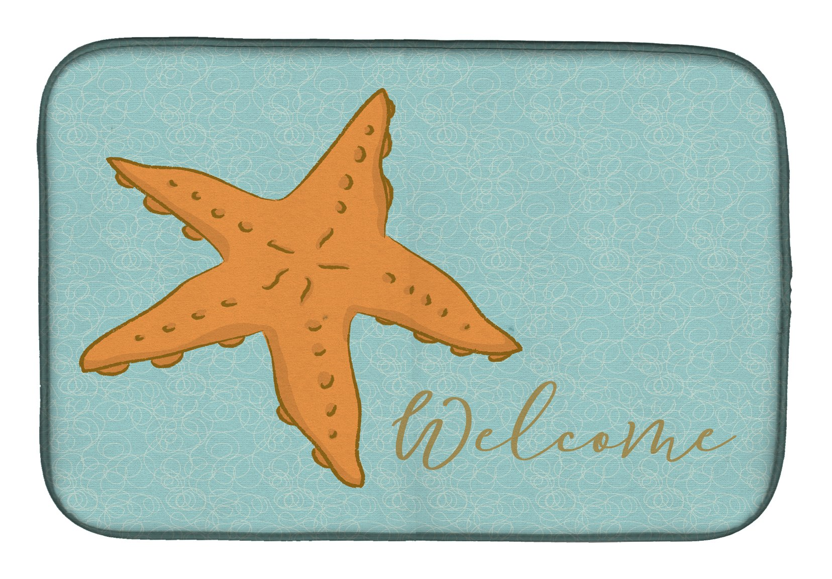 Starfish Welcome Dish Drying Mat BB8559DDM by Caroline's Treasures