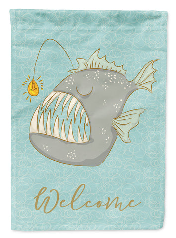 Buy this Frog Fish Welcome Flag Canvas House Size BB8567CHF