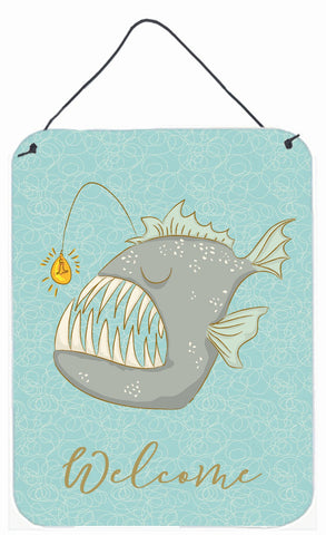 Buy this Frog Fish Welcome Wall or Door Hanging Prints BB8567DS1216