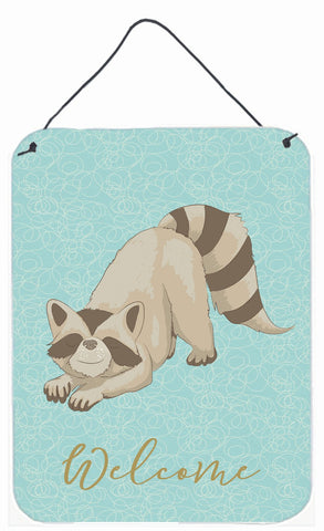 Buy this Raccoon Welcome Wall or Door Hanging Prints BB8569DS1216