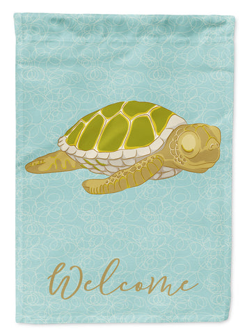 Buy this Sea Turtle Welcome Flag Canvas House Size BB8570CHF