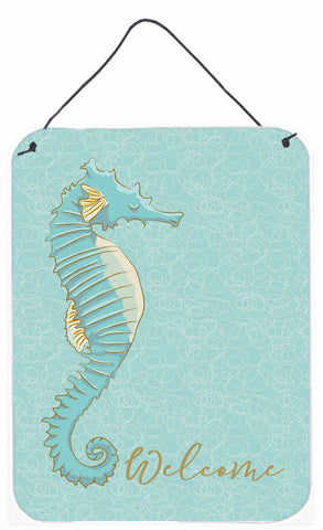 Buy this Seahorse Welcome Wall or Door Hanging Prints BB8575DS1216