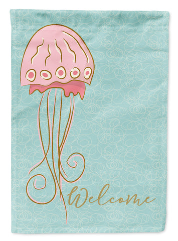 Buy this Jelly Fish Welcome Flag Canvas House Size BB8576CHF