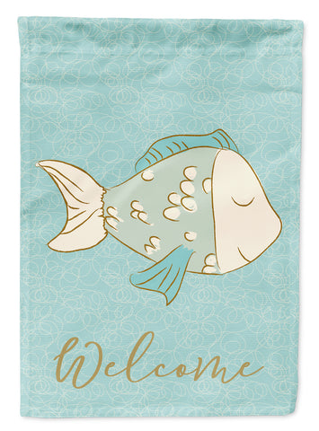 Buy this Blue Fish Welcome Flag Canvas House Size BB8578CHF