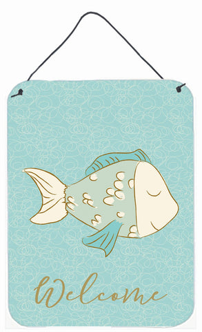 Buy this Blue Fish Welcome Wall or Door Hanging Prints BB8578DS1216