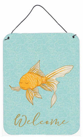 Buy this Gold Fish Welcome Wall or Door Hanging Prints BB8579DS1216