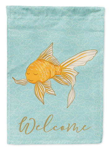 Buy this Gold Fish Welcome Flag Garden Size BB8579GF