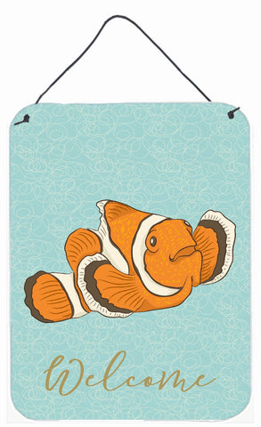 Buy this Clown Fish Welcome Wall or Door Hanging Prints BB8580DS1216