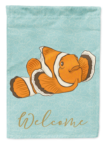 Buy this Clown Fish Welcome Flag Garden Size BB8580GF