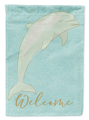 Buy this Dolphin Welcome Flag Canvas House Size BB8581CHF