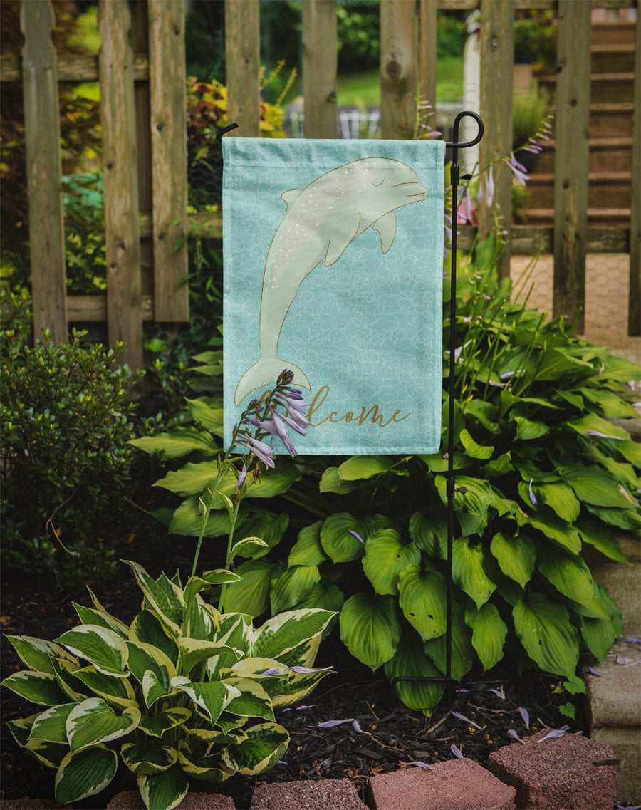 Buy this Dolphin Welcome Flag Garden Size BB8581GF