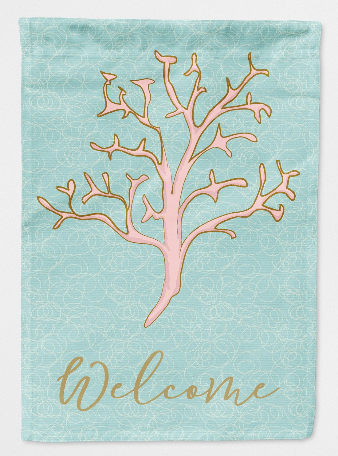 Coral Welcome Flag Garden Size BB8583GF by Caroline's Treasures