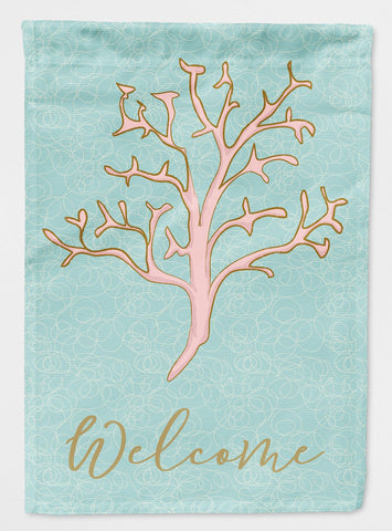 Buy this Coral Welcome Flag Garden Size BB8583GF