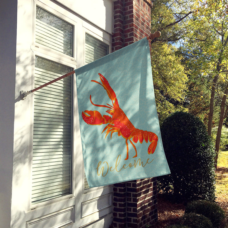 Buy this Lobster Welcome Flag Canvas House Size BB8585CHF