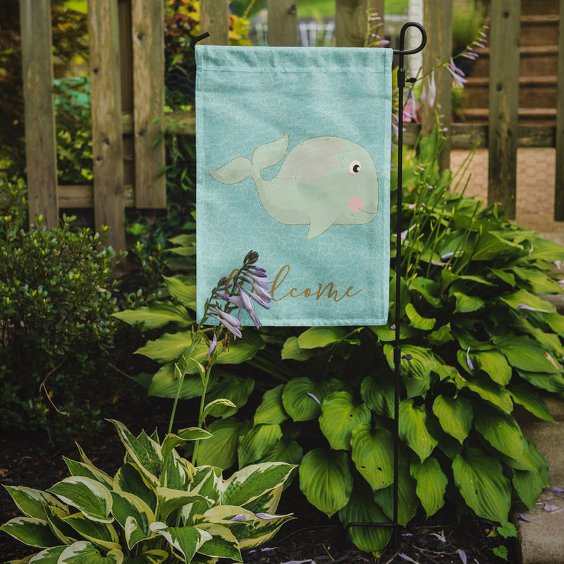 Buy this Whale Welcome Flag Garden Size BB8586GF