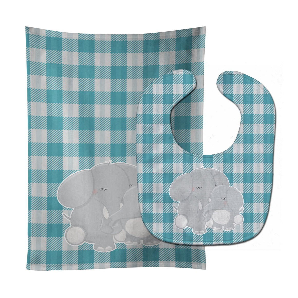 Buy this Elephants Baby Bib & Burp Cloth BB8589STBU