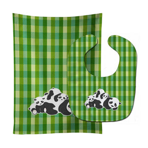 Buy this Pandas Baby Bib & Burp Cloth BB8591STBU