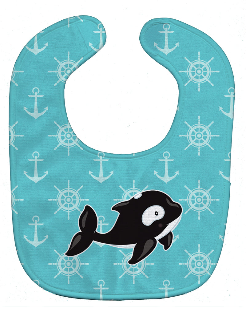 Buy this Whale and Anchors Baby Bib BB8602BIB