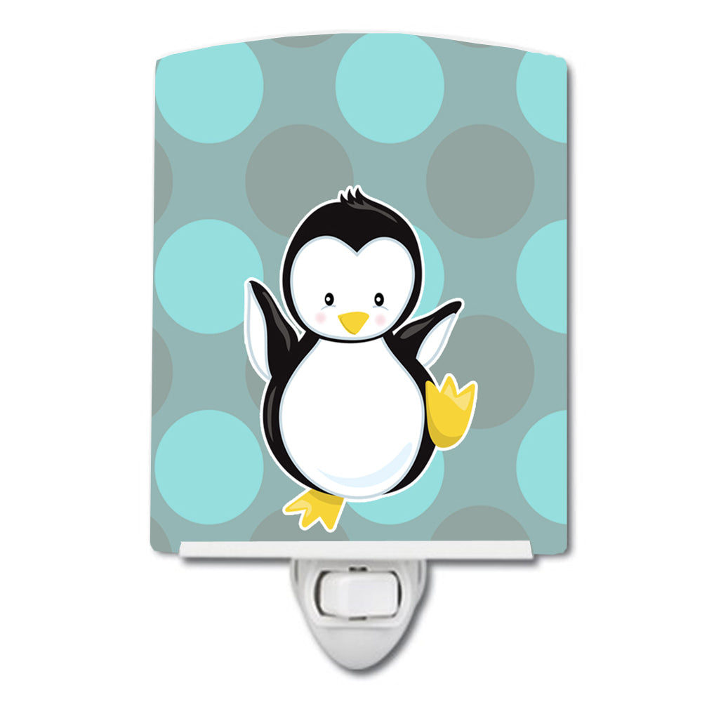 Buy this Penguin on Polkadot Ceramic Night Light BB8605CNL