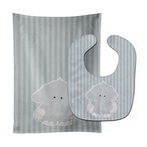 Buy this Elephant Al Baby Bib & Burp Cloth BB8610STBU