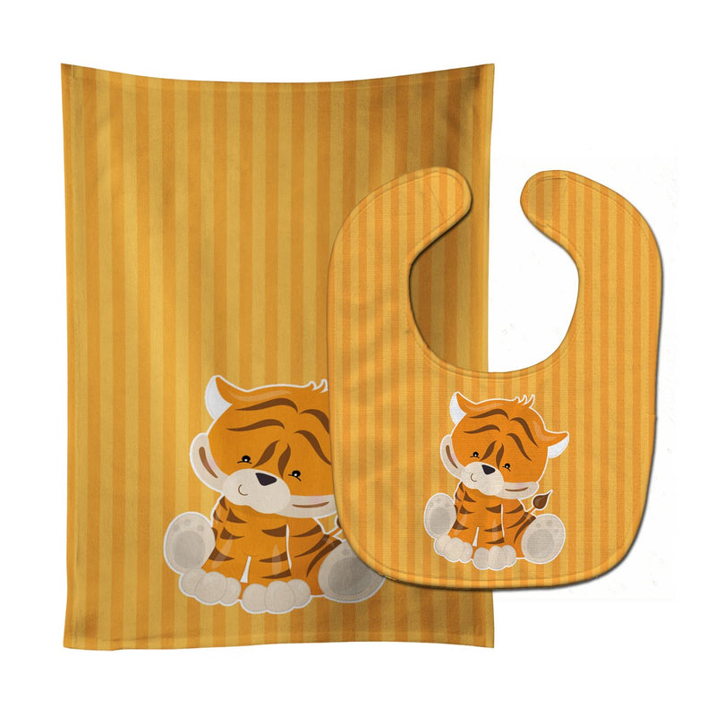 Buy this Tiger Baby Bib & Burp Cloth BB8611STBU