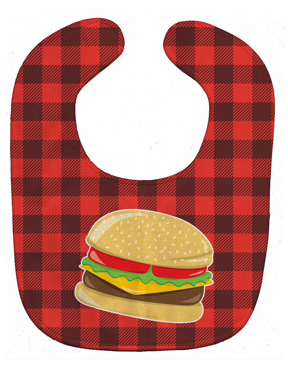 Backyard BBQ Hamburger Baby Bib BB8629BIB by Caroline's Treasures