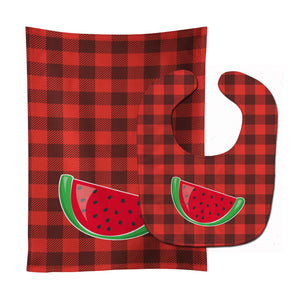 Buy this Backyard BBQ Watermelon Baby Bib & Burp Cloth BB8630STBU
