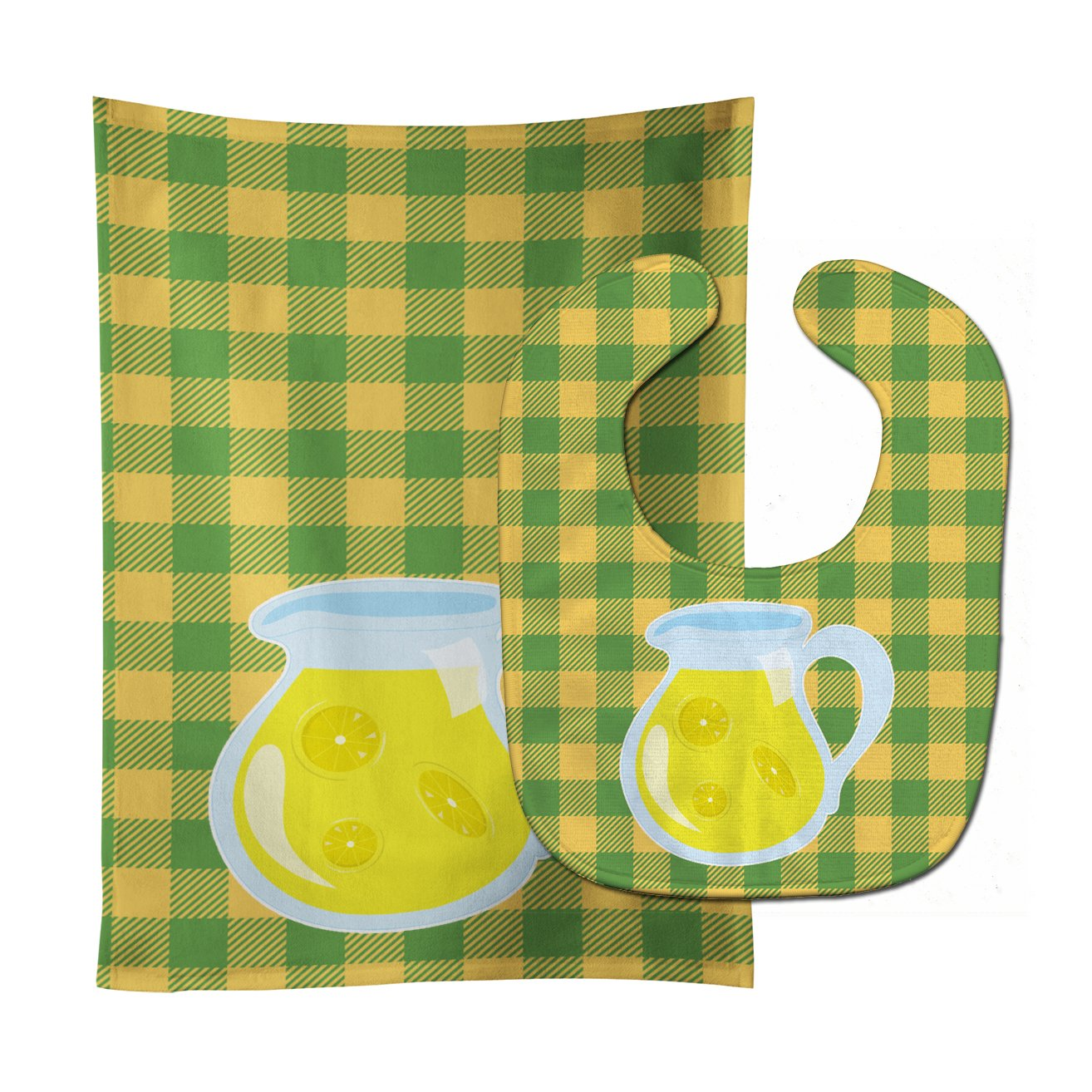 Backyard BBQ Lemonade #2 Baby Bib & Burp Cloth BB8631STBU by Caroline's Treasures
