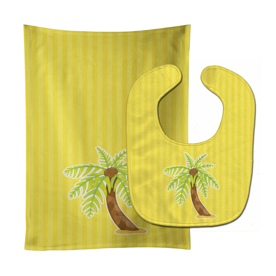 Buy this Palm Tree Baby Bib & Burp Cloth BB8641STBU
