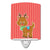 Buy this Christmas Reindeer and Stripes Ceramic Night Light BB8683CNL
