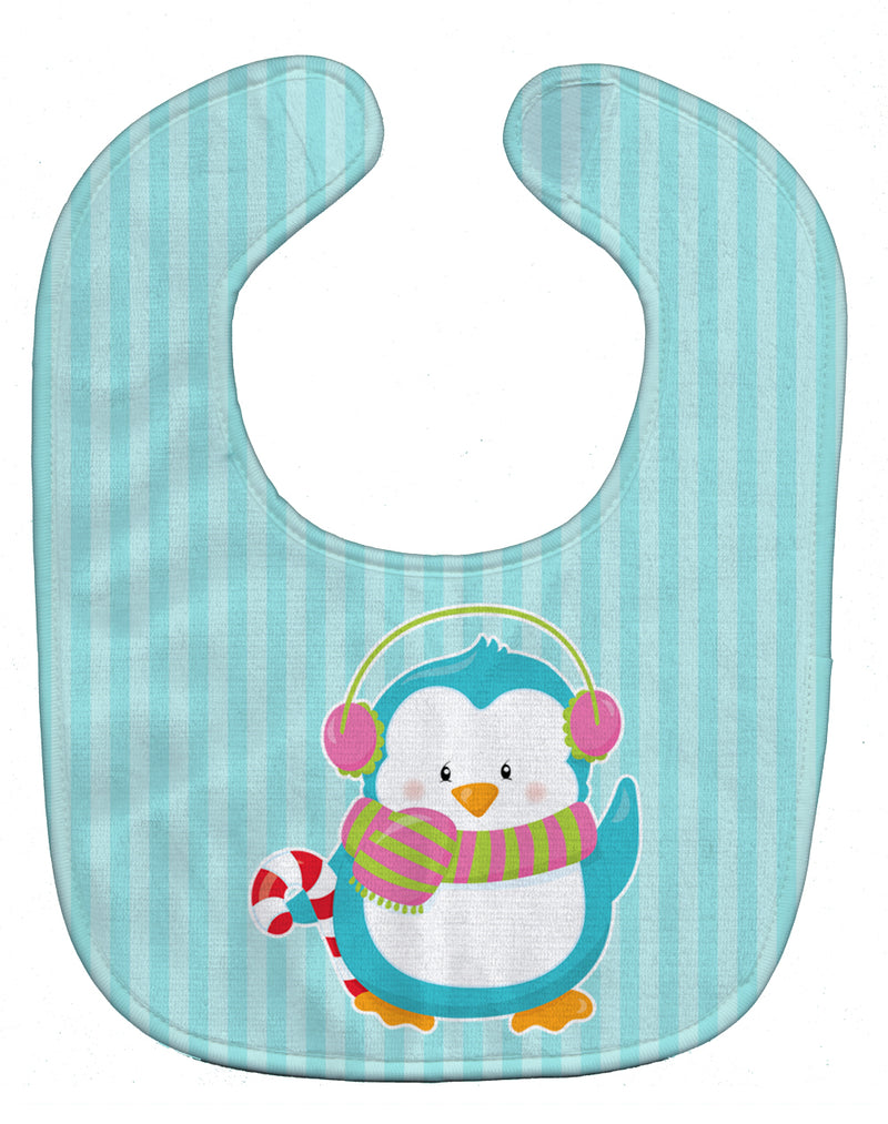 Buy this Christmas Penguin and Stripes Baby Bib BB8684BIB