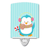 Buy this Christmas Penguin and Stripes Ceramic Night Light BB8684CNL