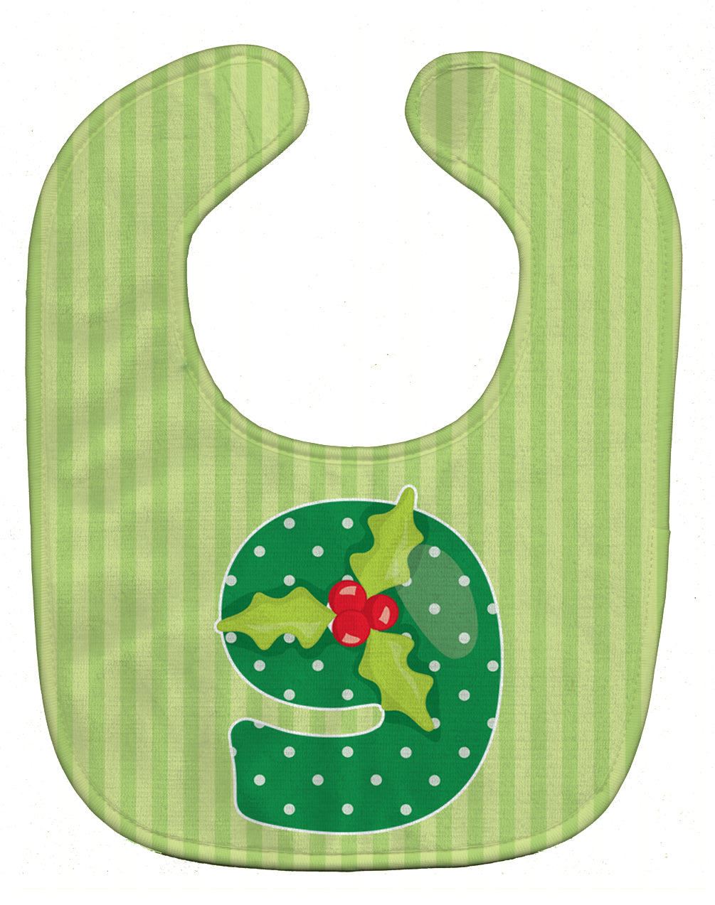 Buy this Christmas Month 9 Holly Baby Bib BB8695BIB