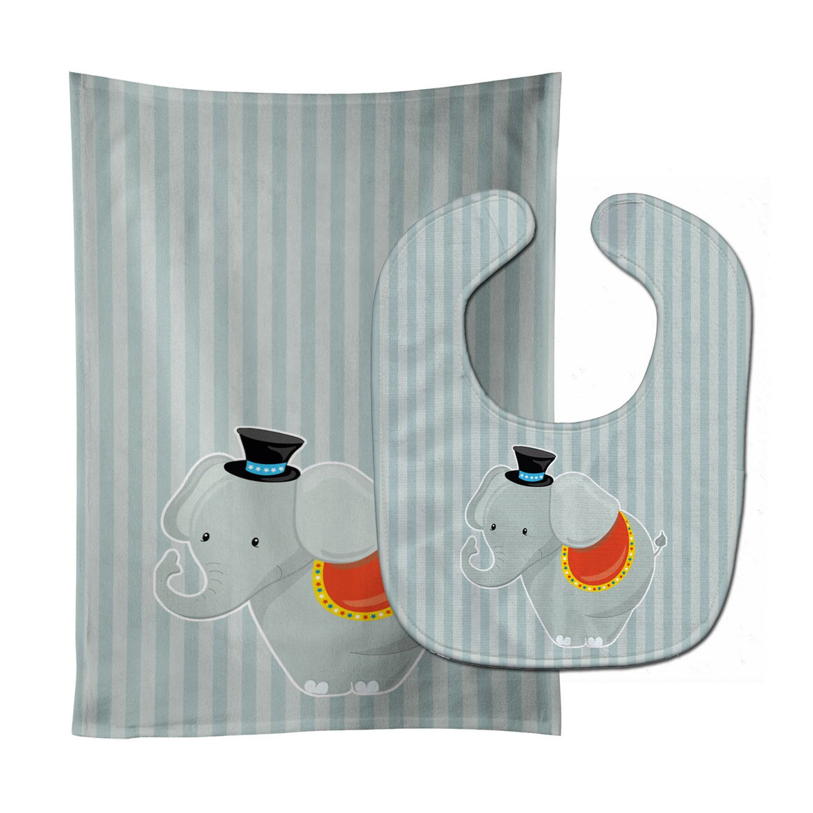 Buy this Elephant Baby Bib & Burp Cloth BB8698STBU