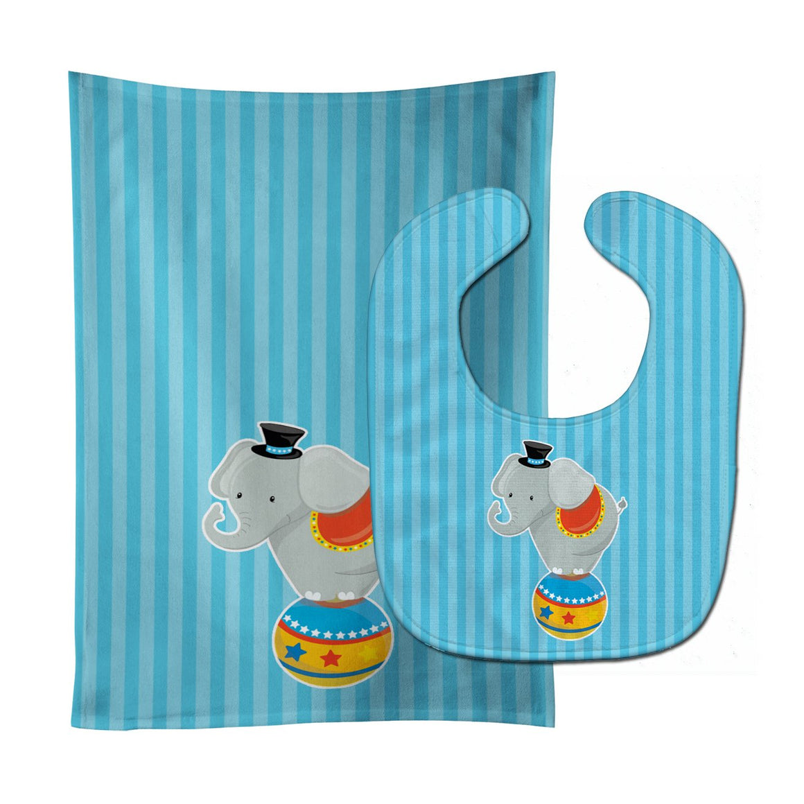 Buy this Circus Elephant Baby Bib & Burp Cloth BB8699STBU