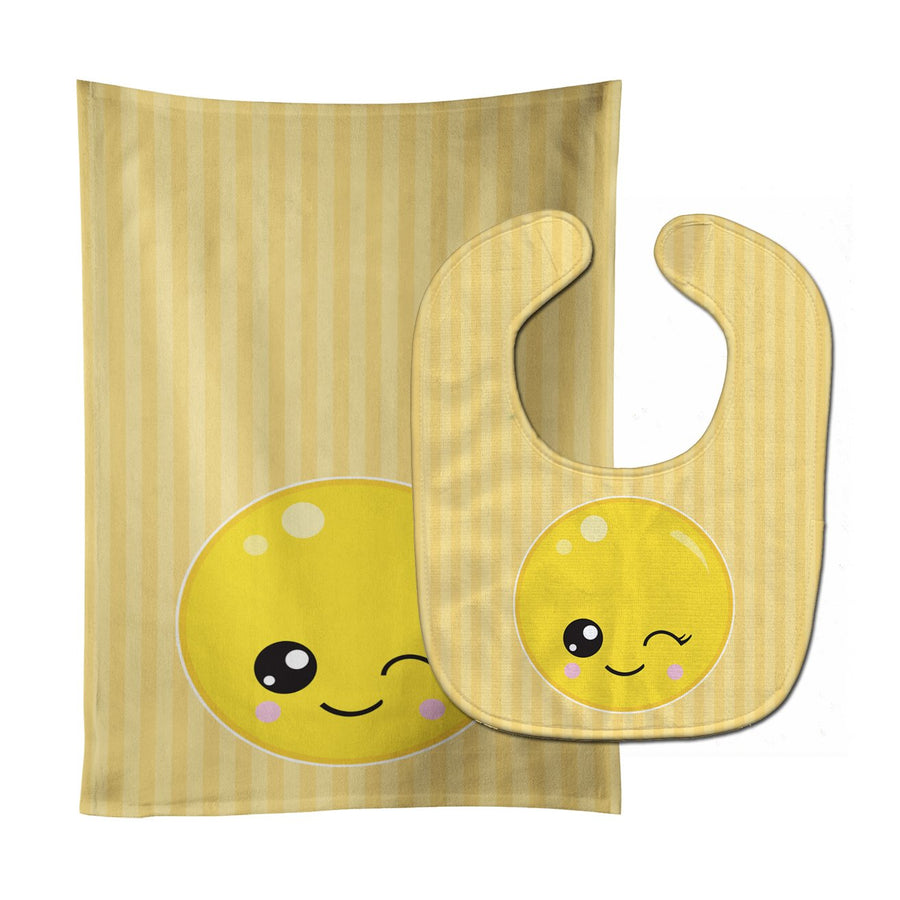 Buy this Winky Face Baby Bib & Burp Cloth BB8728STBU