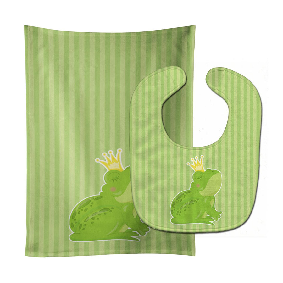 Buy this Prince Frog Baby Bib & Burp Cloth BB8759STBU