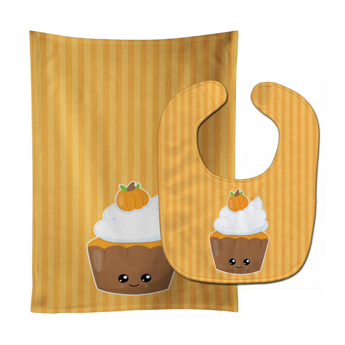 Buy this Fall Cupcake Baby Bib & Burp Cloth BB8761STBU