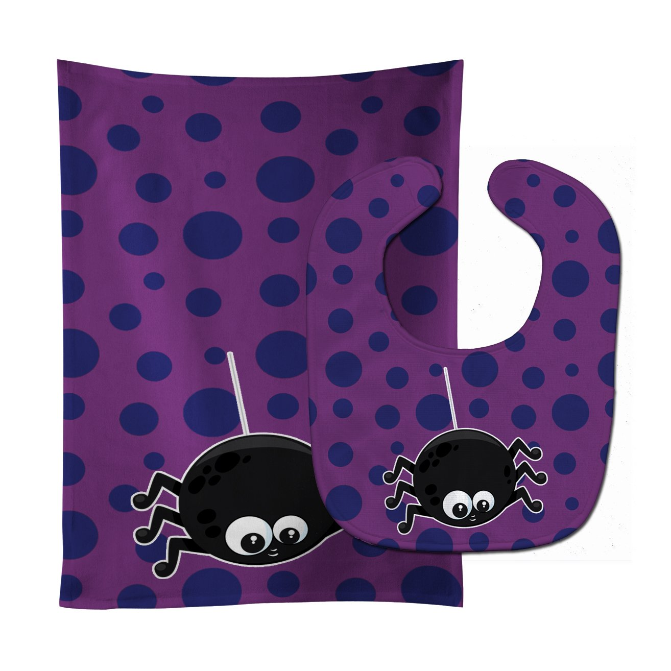 Buy this Halloween Spider Baby Bib & Burp Cloth BB8790STBU