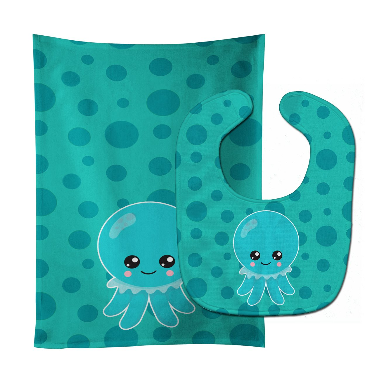 Buy this Ocean Octopus Blue Baby Bib & Burp Cloth BB8794STBU