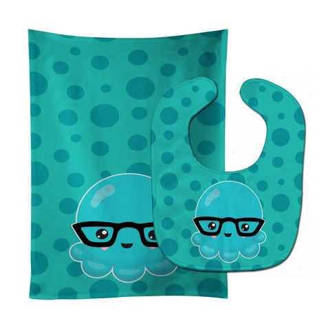 Buy this Ocean Octopus Baby Bib & Burp Cloth BB8798STBU