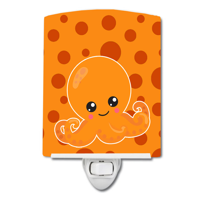 Buy this Cutie Ocean Octopus Orange Ceramic Night Light BB8799CNL