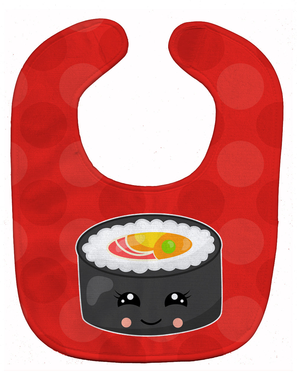 Sushi Roll with Face Baby Bib BB8800BIB by Caroline's Treasures