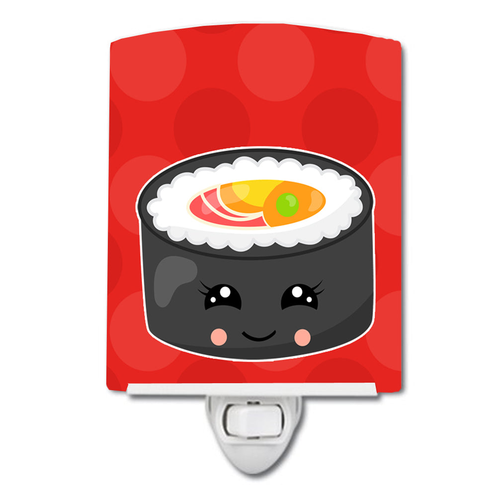 Tuna Sushi Roll with Face Ceramic Night Light BB8800CNL by Caroline's Treasures